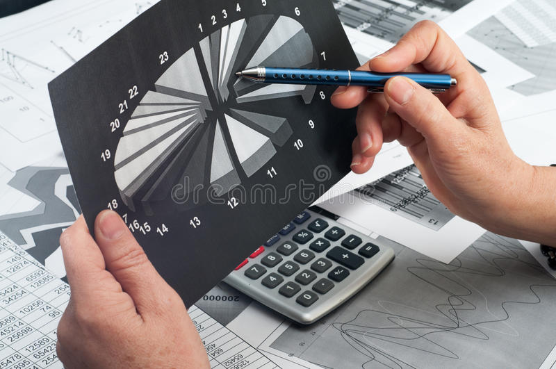 Studie von Finanzgelegenheiten lizenzfreies stockbild