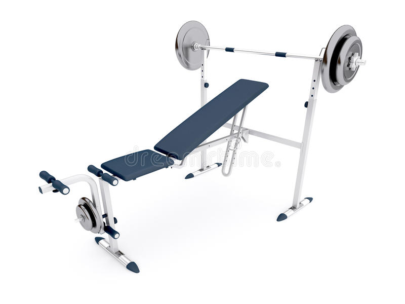 Simulator Bench With A Barbell Stock Images