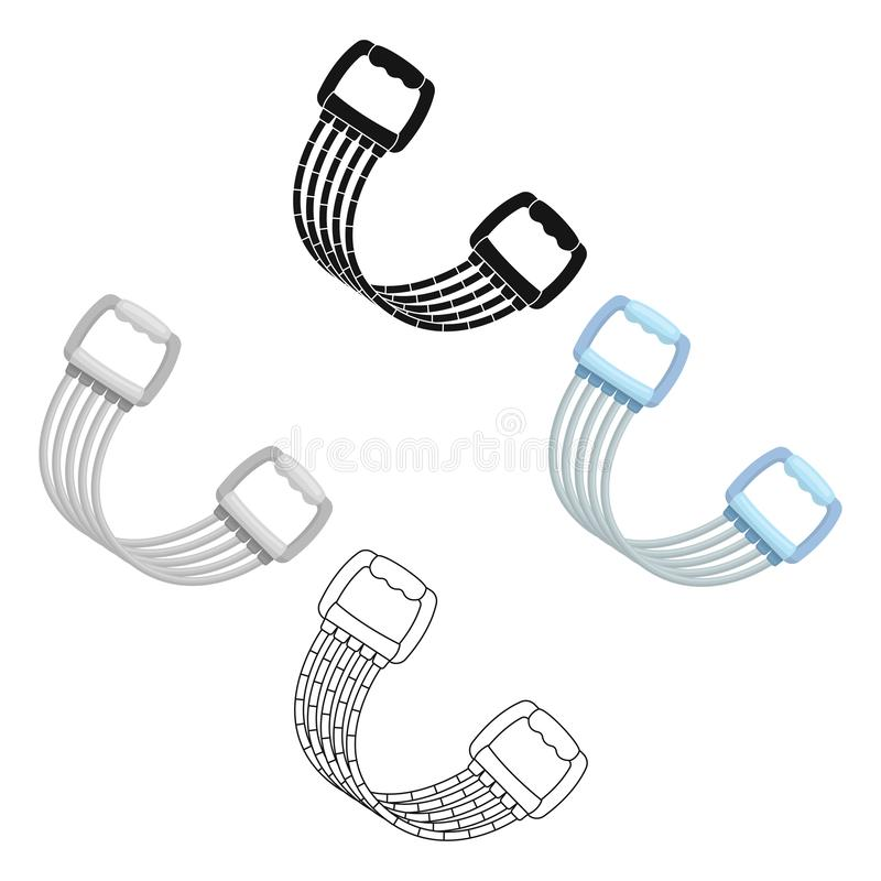 Simulator for hands on a spring mechanism.Gym And Workout single icon in cartoon,black style vector symbol stock. Web illustration royalty free illustration