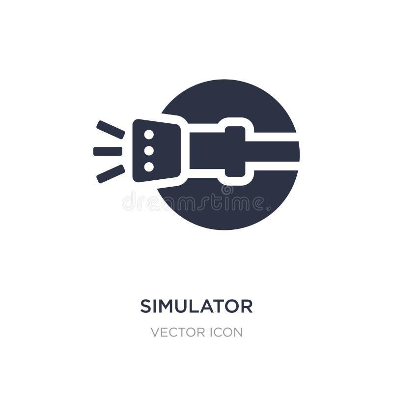 Simulatorikone auf weißem Hintergrund Einfache Elementillustration vom Astronomiekonzept lizenzfreie abbildung