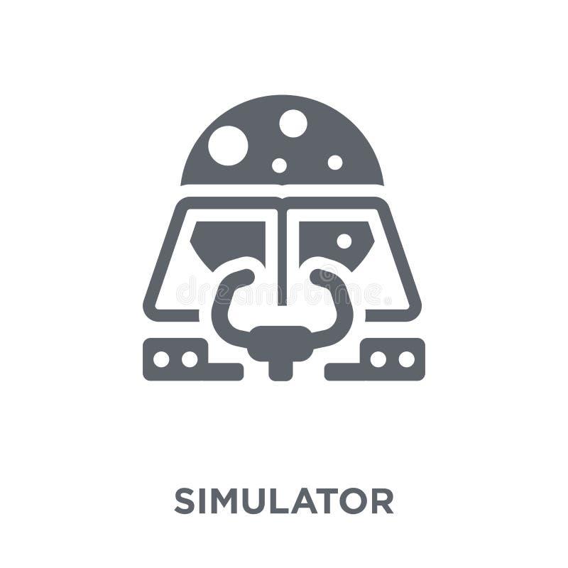 Simulatorpictogram van Astronomieinzameling royalty-vrije illustratie