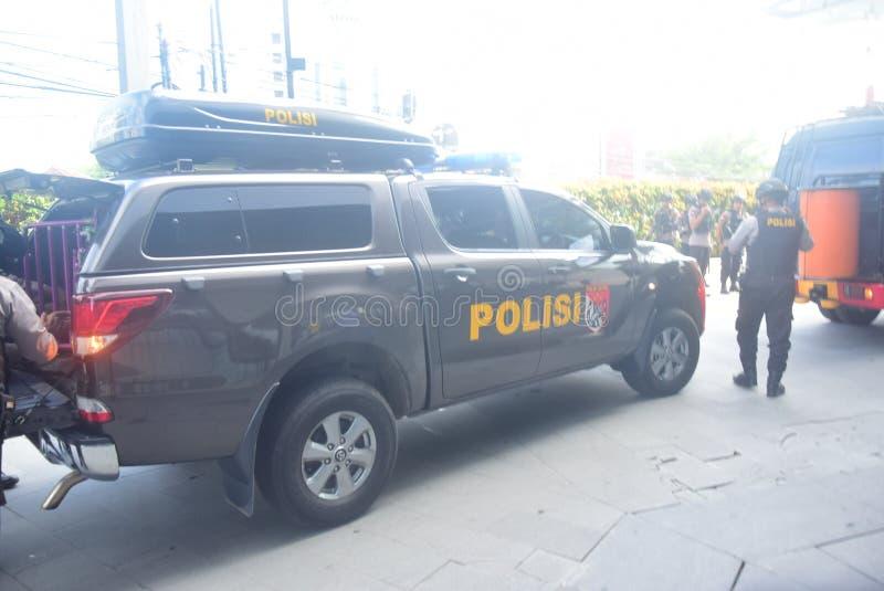 Simulazione di sicurezza della bomba in corona Samarang dell'hotel fotografia stock