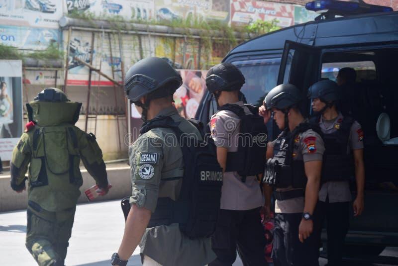 Simulazione di sicurezza della bomba in corona Samarang dell'hotel immagine stock
