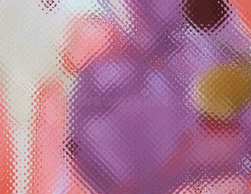 Simuleer gevormd gekleurd glas in heldere koele kleuren stock afbeeldingen