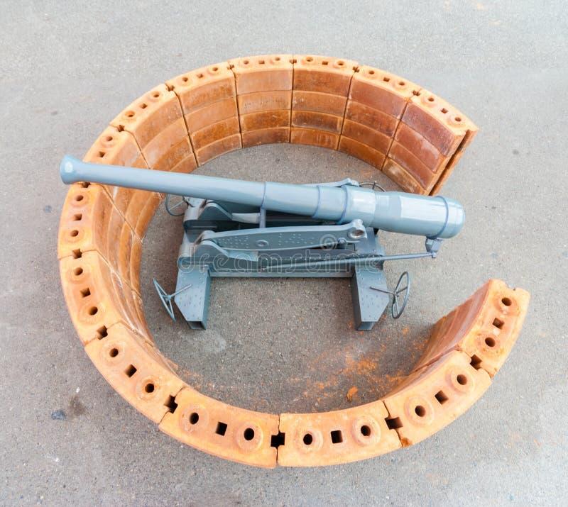 Simuleer kanon stock fotografie