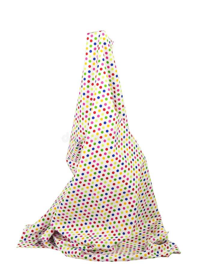 Simulera den långa pricken för kjolmodellpokaen på den vita bakgrunden royaltyfri foto