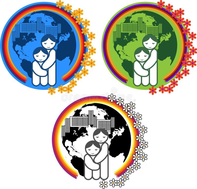 Simvol_ Schutz der Mütter und der Kinder vektor abbildung
