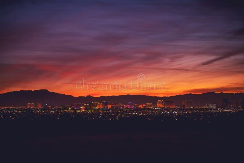 Sin City Las Vegas Nevada fotografia stock libera da diritti