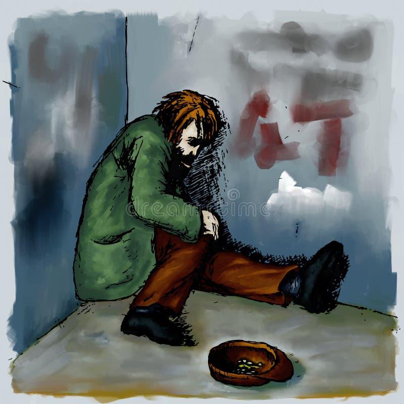 Sin hogar stock de ilustración