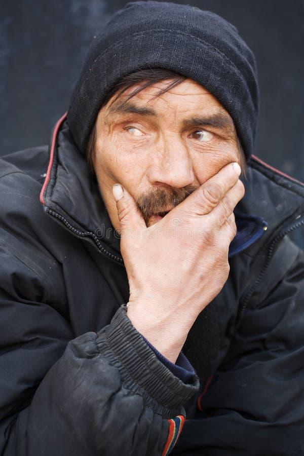 Sin hogar. foto de archivo