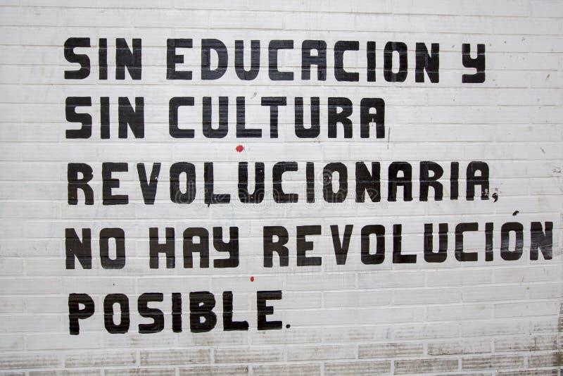 Sin la educación y la cultura, no hay revolución posible imagen de archivo libre de regalías