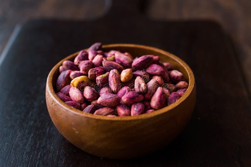 Sin pelado asado/sin de los pistachos Shell/los pistachos salados foto de archivo