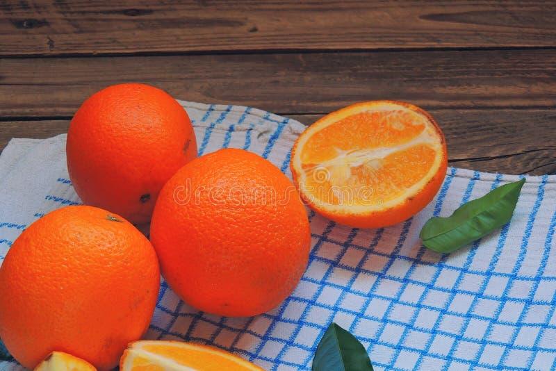 Sinaasappel in de sectieclose-up royalty-vrije stock afbeelding