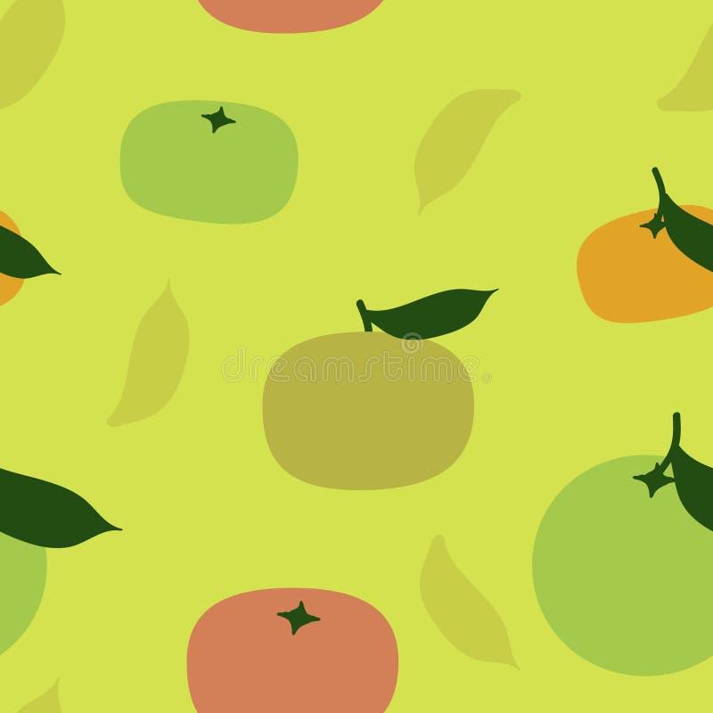 Sinaasappel en mandarijn royalty-vrije illustratie