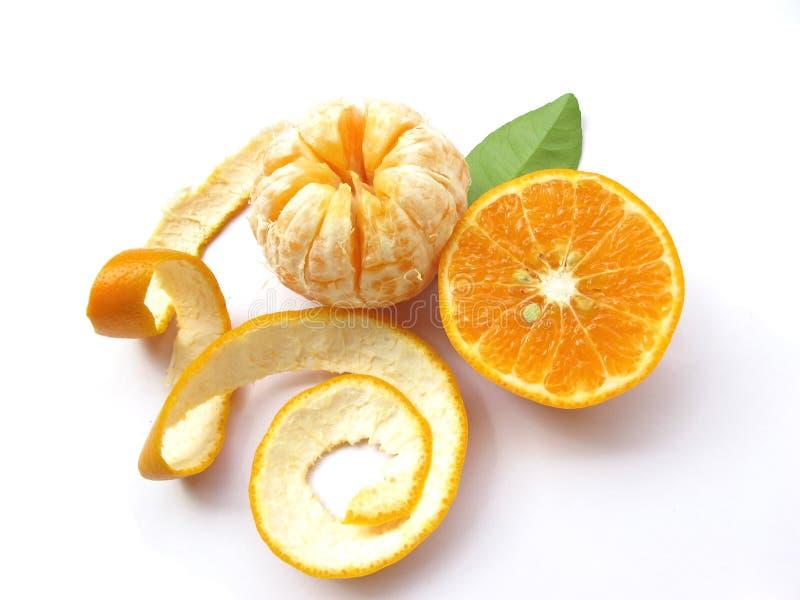 Sinaasappel-geïsoleerds stock foto