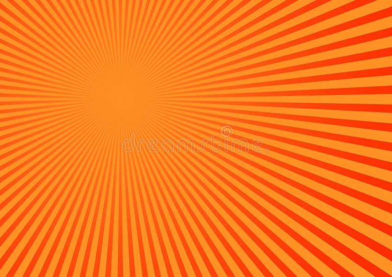 Sinaasappel gestripte achtergrond vector illustratie