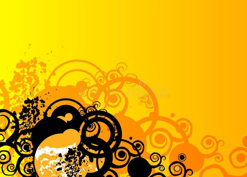 Sinaasappel grunge royalty-vrije illustratie