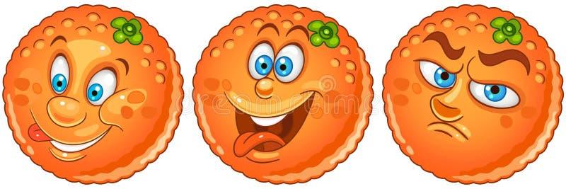 Sinaasappel Het concept van het fruitvoedsel vector illustratie