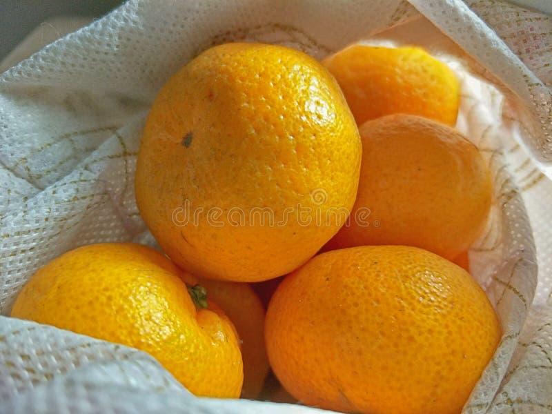 Sinaasappel van de wandelgalerij stock fotografie