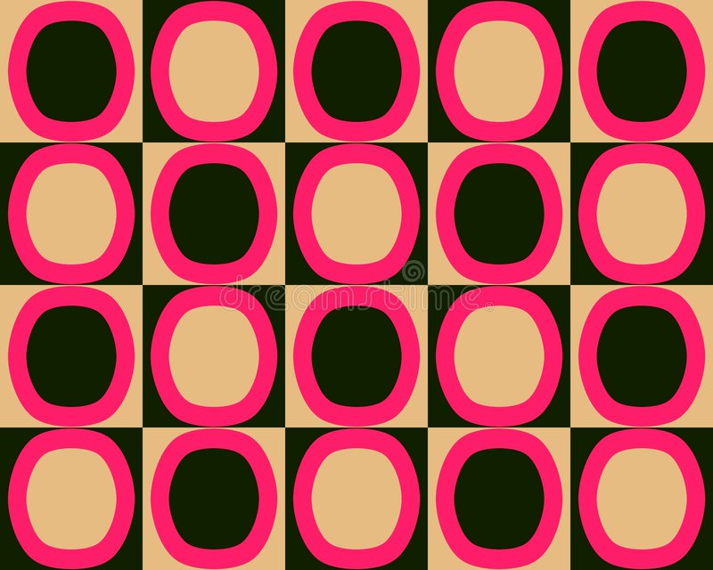 Sinaasappel van het Patroon van de Ovalen van het pop-art de Afwisselende Rode Zwarte vector illustratie