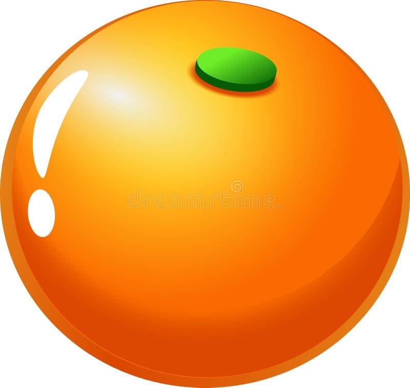 Sinaasappel - Vruchten Punten voor gelijke 3 spelen royalty-vrije illustratie