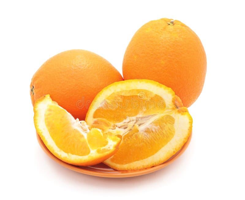 Sinaasappelen in de kom royalty-vrije stock afbeeldingen