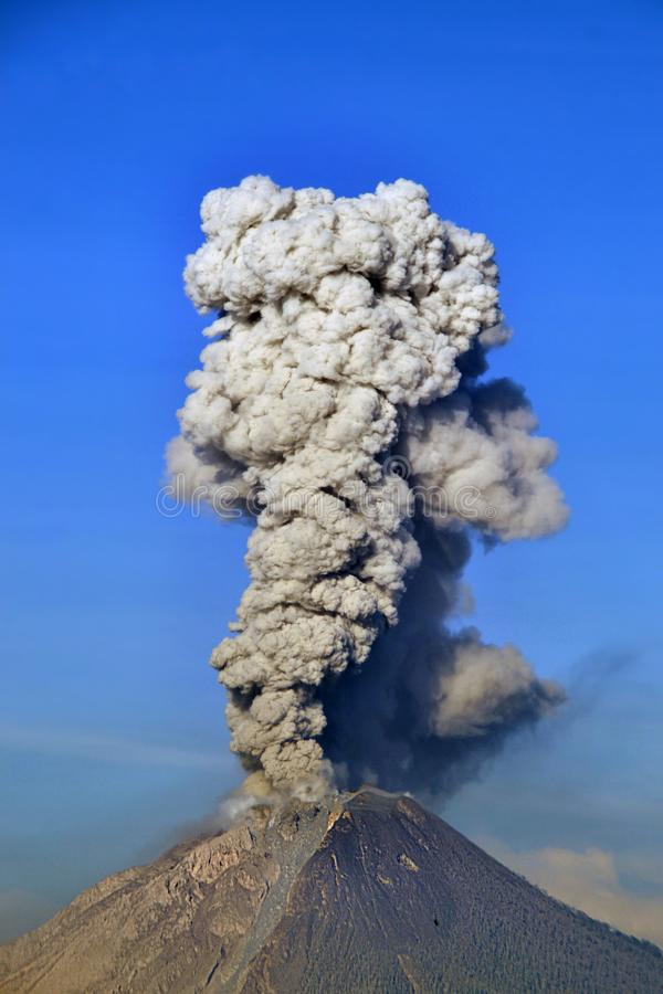 Sinabung mount eruption. Sinabung mount in indonesia eruption for 8 years when now and every day stock images