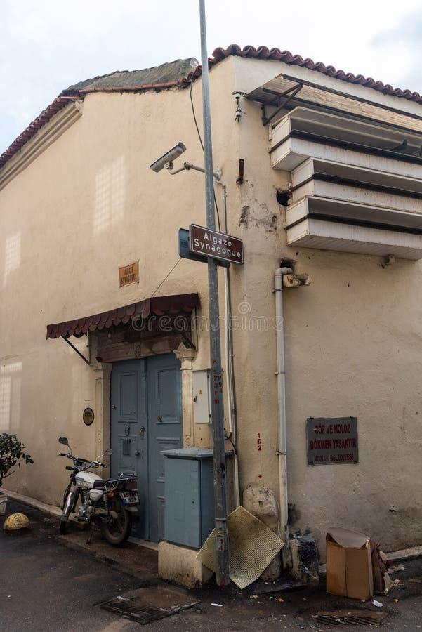 Sinagoga de Algaze em Izmir, Turquia foto de stock