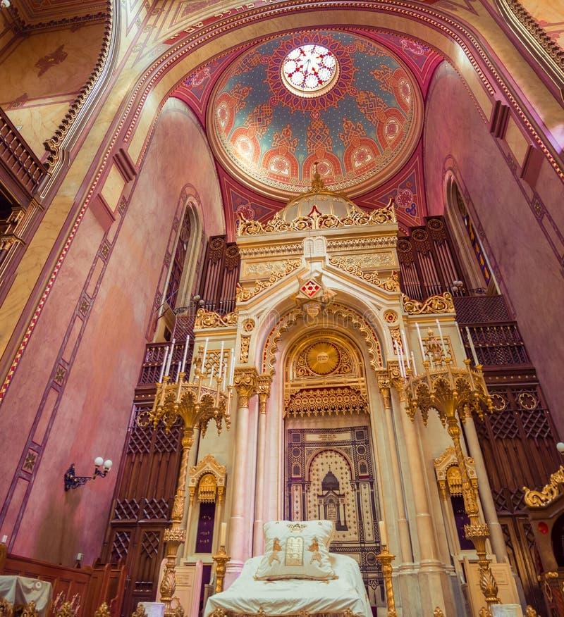 Sinagoga de la calle de Dohany foto de archivo