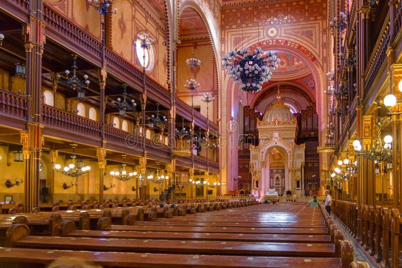 Sinagoga de la calle de Dohany fotografía de archivo