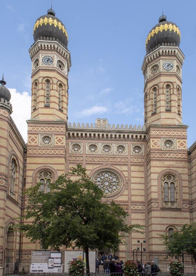 Sinagoga de la calle de Dohany, Budapest, Hungría foto de archivo