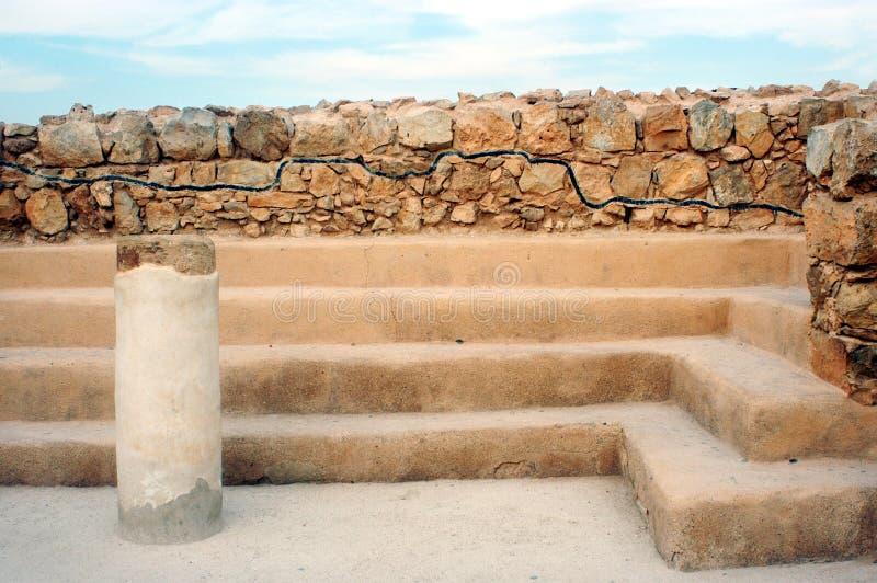 A sinagoga de Masada foto de stock royalty free