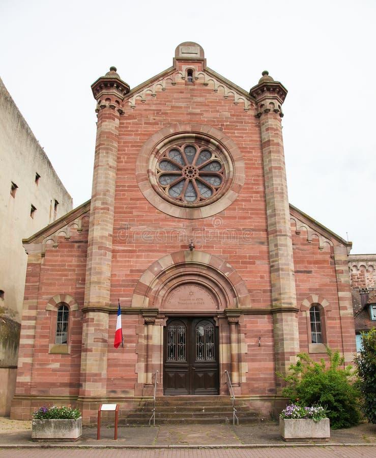 Sinagoga de Obernai, Alsácia, França fotografia de stock