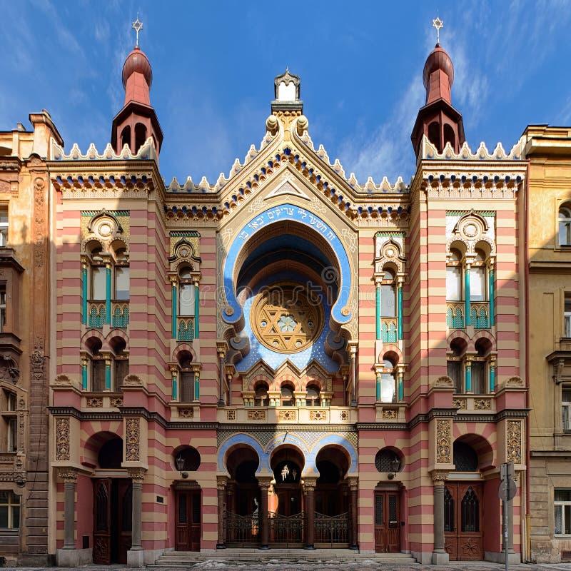 Sinagoga del jubileo en Praga, República Checa imagenes de archivo