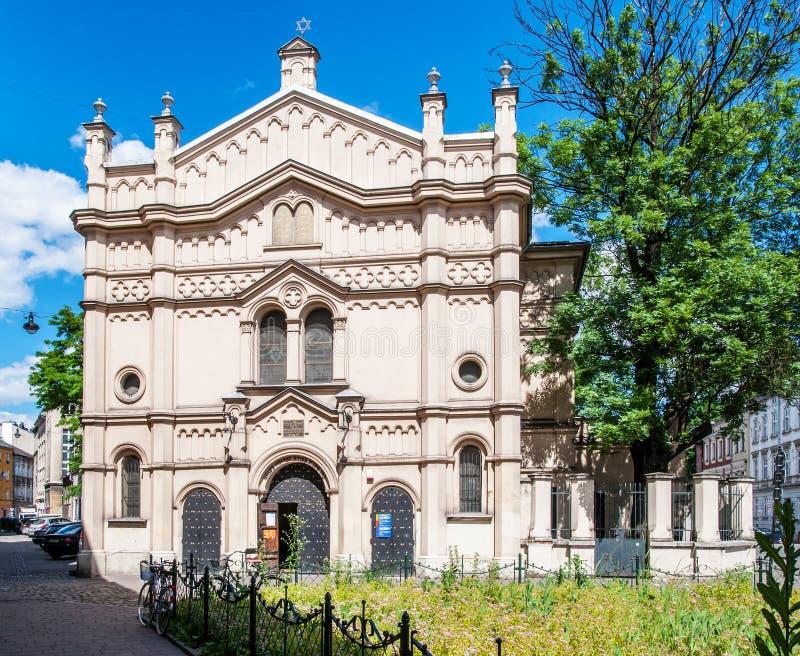 Sinagoga del tempio a Cracovia, Polonia fotografie stock libere da diritti