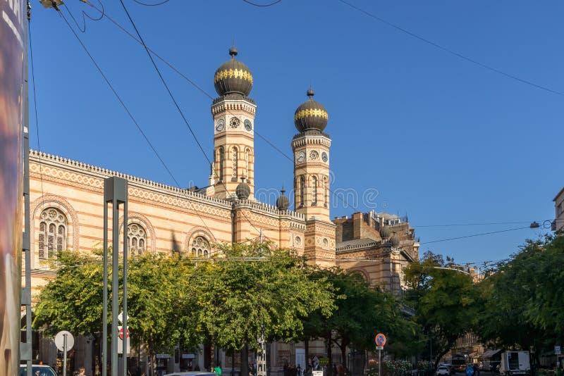 Sinagoga della via di Dohany grande, Budapest immagine stock libera da diritti