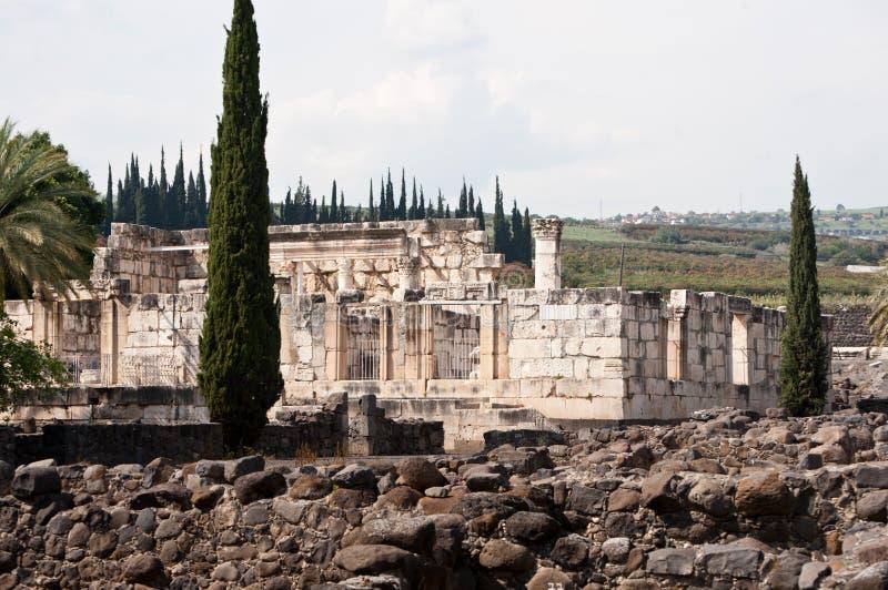 Sinagoga di Capernaum fotografie stock