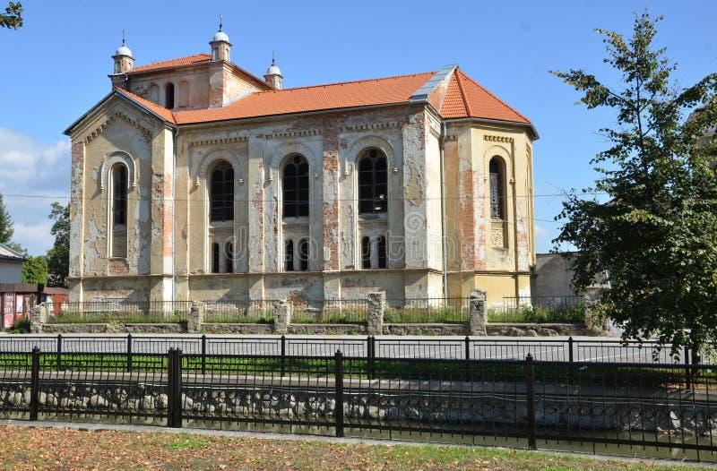 Sinagoga ebrea di vecchio cattivo stato in Bytca, Slovacchia immagine stock libera da diritti