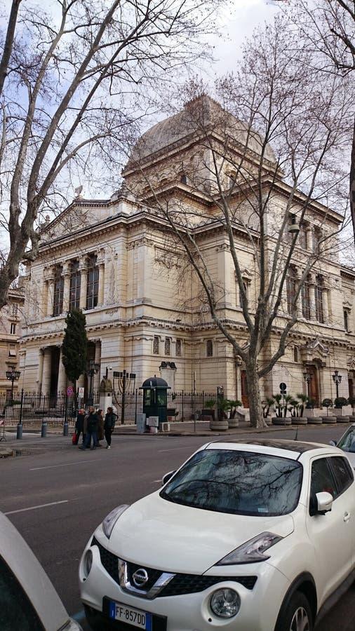Sinagoga ebrea a Roma, Italia fotografia stock libera da diritti