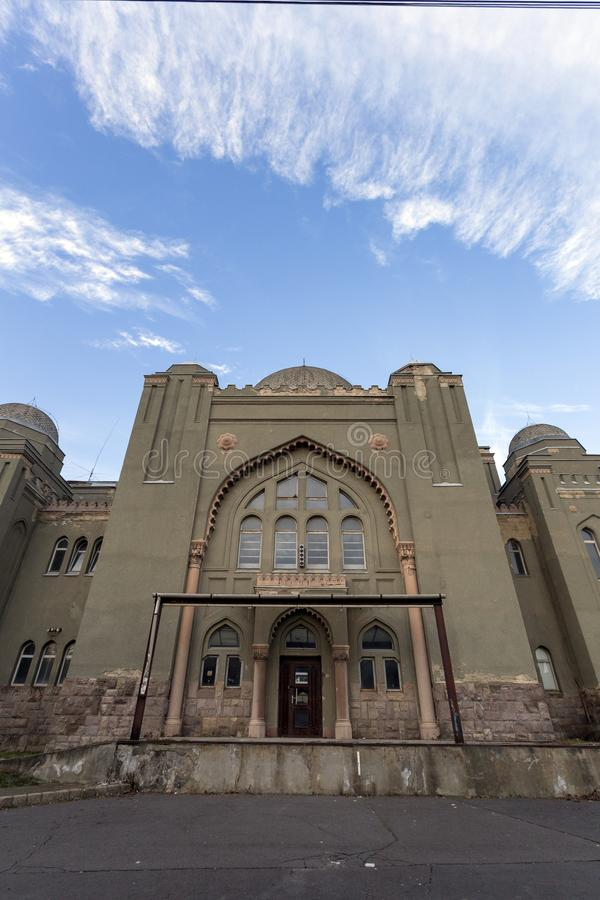 Sinagoga em Gyongyos, Hungria imagens de stock royalty free