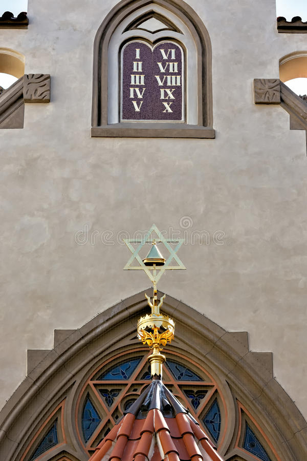 Sinagoga em Praga foto de stock