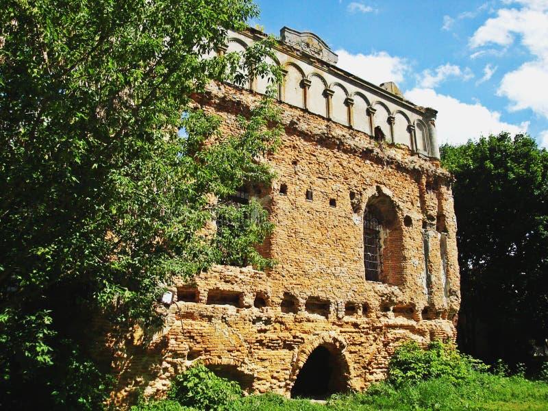 Sinagoga en Sokal, Ucrania fotografía de archivo