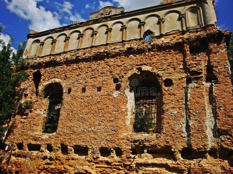 Sinagoga en Sokal, Ucrania fotos de archivo