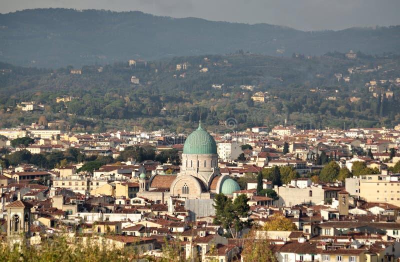 Sinagoga Florence Italy fotografía de archivo