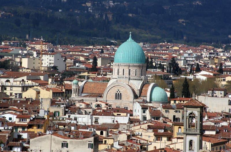 Sinagoga, Florencia, Italia foto de archivo