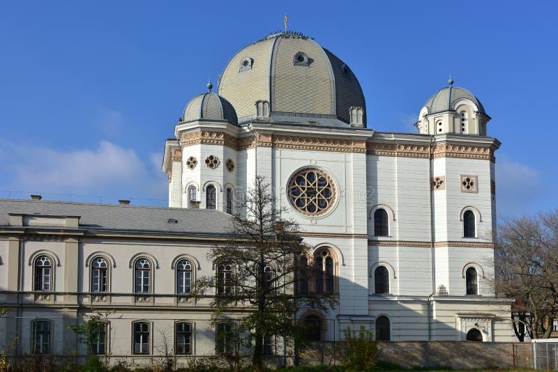 Sinagoga, Gyor, Hungria Tema arquitetónico religioso fotografia de stock royalty free