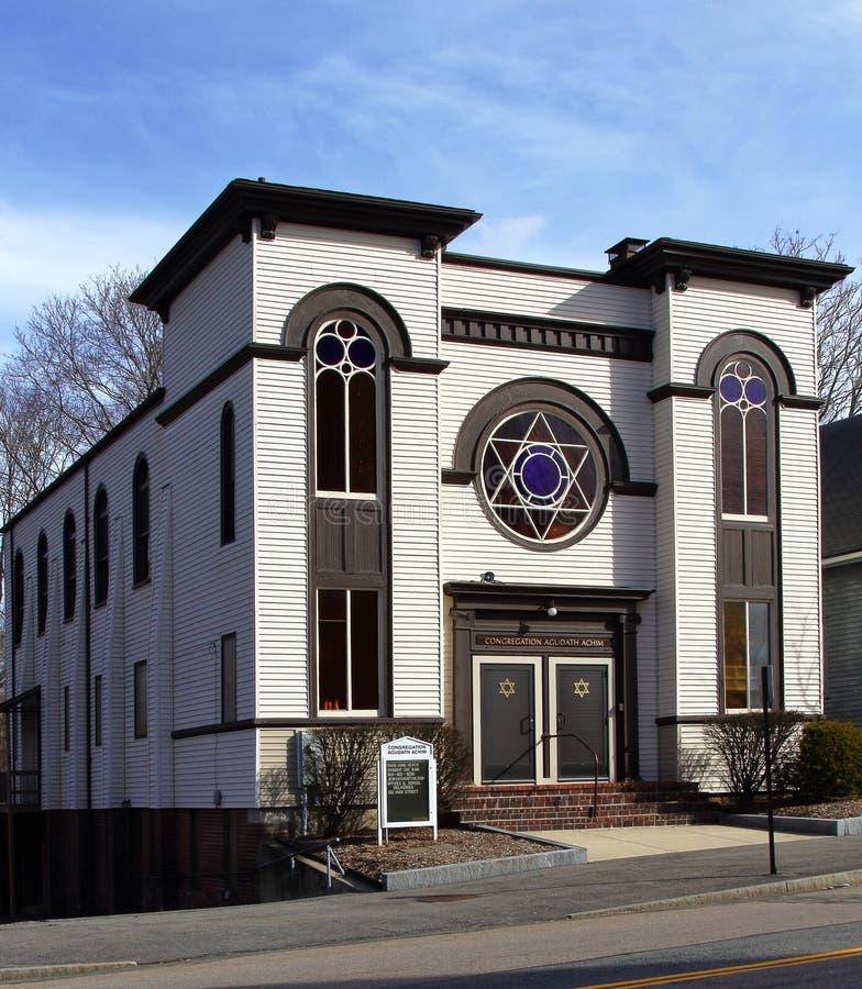 Sinagoga storica a Taunton, Massachusetts immagine stock libera da diritti