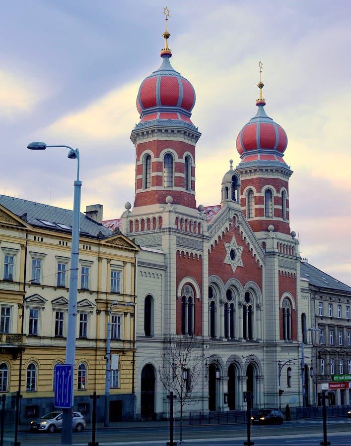 Sinagogue in der Stadt von Pilsen, Tschechische Republik lizenzfreie stockfotografie