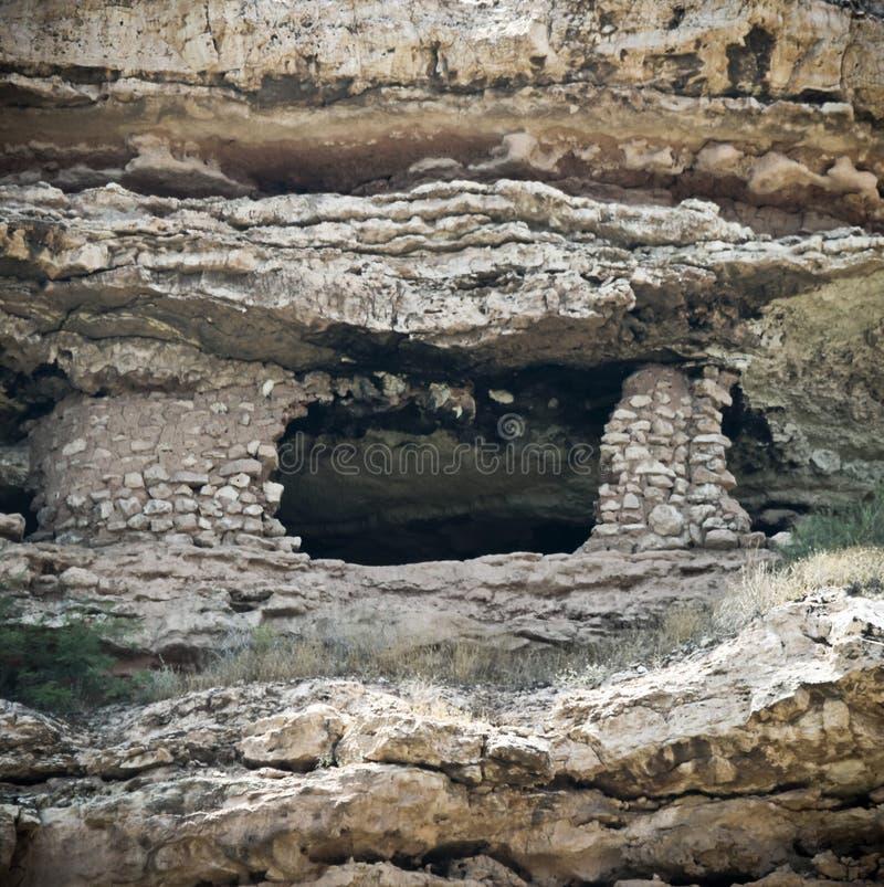 Sinagua Indiańska ruina Widzieć od Verde jaru linii kolejowej pociągu, Clarkdale, AZ, usa obraz stock