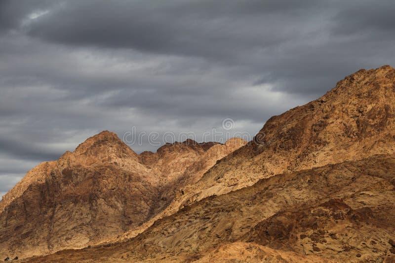 Sinai Bergen in St Catherine District royalty-vrije stock fotografie